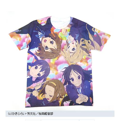 「けいおん!!」メンバー勢揃い!全面プリントの限定Tシャツが発売!