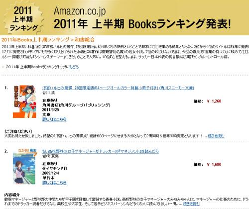 Amazon上半期ランキング、「和書総合」「DVD・ブルーレイ(アニメ)」部門の1位は...?