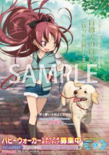 盲導犬普及支援オリジナルポスターに『魔法少女まどか☆マギカ』のイラストを起用!