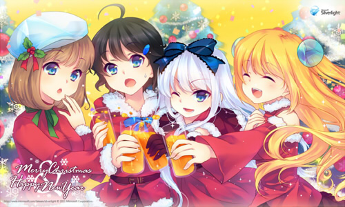 台湾Microsoft『Silverlight』にて、クリスマス壁紙を期間限定で配布!